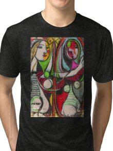 picasso graffiti # 4 Tri-blend T-Shirt