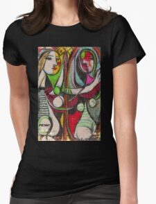 picasso graffiti # 4 Womens Fitted T-Shirt