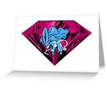 Shiny Blood Crystal Suicune Greeting Card