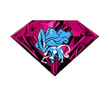 Shiny Blood Crystal Suicune Photographic Print