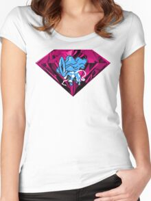 Shiny Blood Crystal Suicune Women's Fitted Scoop T-Shirt