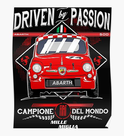 FIAT ABARTH 500 Poster