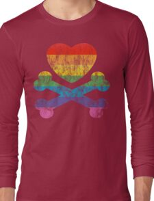 heart and crossbones Long Sleeve T-Shirt