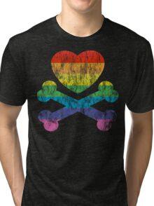 heart and crossbones Tri-blend T-Shirt