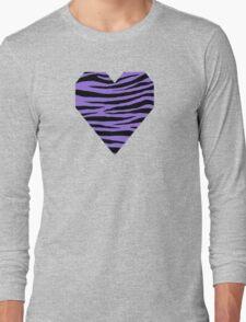 0418 Medium Purple Tiger Long Sleeve T-Shirt