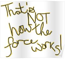 Force Works (Calligraphy) Poster
