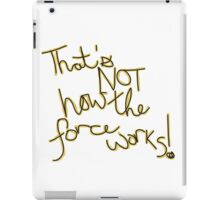 Force Works (Calligraphy) iPad Case/Skin