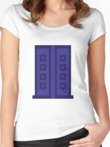 River's Diary - Pixelated Women's Fitted Scoop T-Shirt