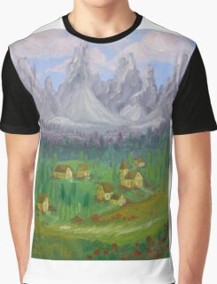 Italian Countryside Graphic T-Shirt