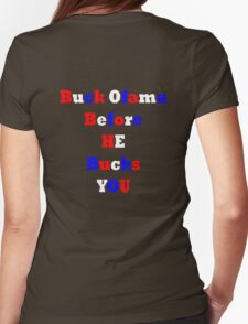 Buck Ofama Womens Fitted T-Shirt