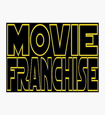 Movie Franchise Photographic Print