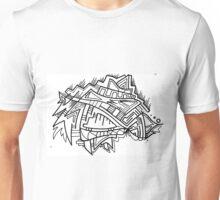 Sharp Glass Abstract Hand Drawn Zen Design Unisex T-Shirt