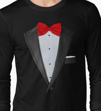 Realistic Tuxedo Shirt Long Sleeve T-Shirt