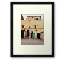 Old Yellow House Facade Framed Print