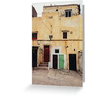 Old Yellow House Facade Greeting Card