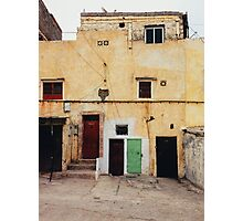 Old Yellow House Facade Photographic Print