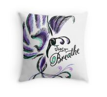 Just Breathe, Butterfly Throw Pillow