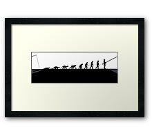 Hunting evolution Framed Print