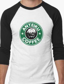 Drink coffee, eat human. Men's Baseball ¾ T-Shirt