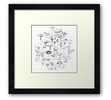 The Mushroom Gang Framed Print