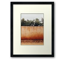 Olive Trees Behind Wall Framed Print