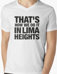 Lima Heights - Black Mens V-Neck T-Shirt