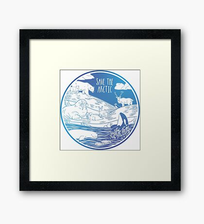 Save the Arctic! Framed Print