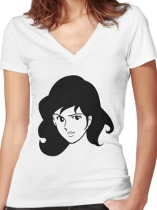 Fujiko Lupin The Third Women's Fitted V-Neck T-Shirt