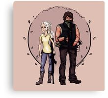 Bethyl - If there's a fight I'll be by your side. Canvas Print
