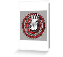 Bulldog king Greeting Card