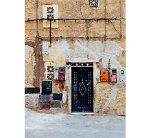 Facade Detail in Morocco Photographic Print