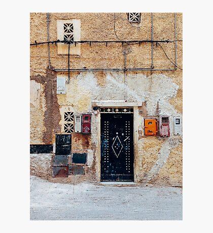 Facade Detail in Morocco Photographic Print