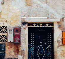 Facade Detail in Morocco Sticker