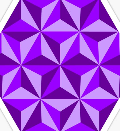 Purple Triangular Octagon Sticker