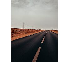 Two Hitchhikers in Moroccan Countryside Photographic Print