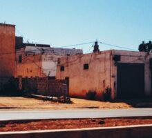Old Roadside Buildings in Morocco Sticker