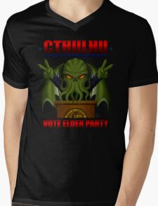 Cthulhu for President Mens V-Neck T-Shirt