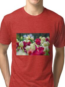 Tulips Red Tri-blend T-Shirt