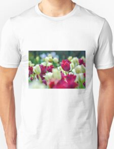 Tulips Red Unisex T-Shirt