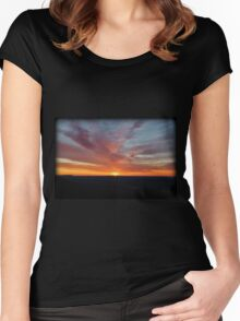 Breaking Through Morning Women's Fitted Scoop T-Shirt
