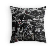 Mountain Bikes Throw Pillow
