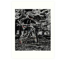 Mountain Bikes Art Print