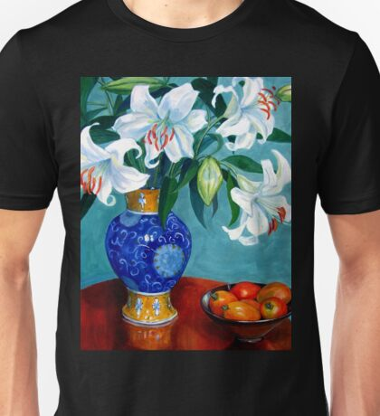 Lilies in the Chinese Vase Unisex T-Shirt