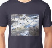 Hogs Back Falls, Ottawa, Canada...Spring Run Off. Unisex T-Shirt