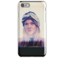 Polaroid of Blond Female Hippie Looking Into Camera iPhone Case/Skin