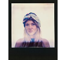 Polaroid of Blond Female Hippie Looking Into Camera Photographic Print
