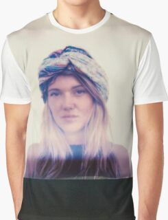 Polaroid of Blond Female Hippie Looking Into Camera Graphic T-Shirt