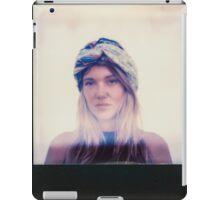 Polaroid of Blond Female Hippie Looking Into Camera iPad Case/Skin