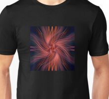 Flowing spiral - ruby Unisex T-Shirt