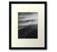Rio de Janeiro - Copacabana Beach With Dramatic Sky in Black and White Framed Print